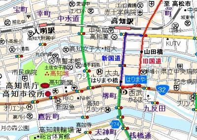 はりまや橋地図