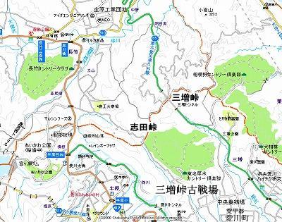 三増峠地図