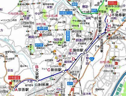 成宗電気軌道地図