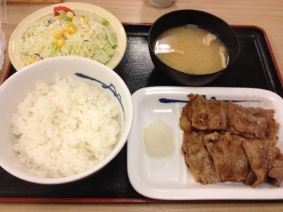 松屋 牛カルビ焼肉定食