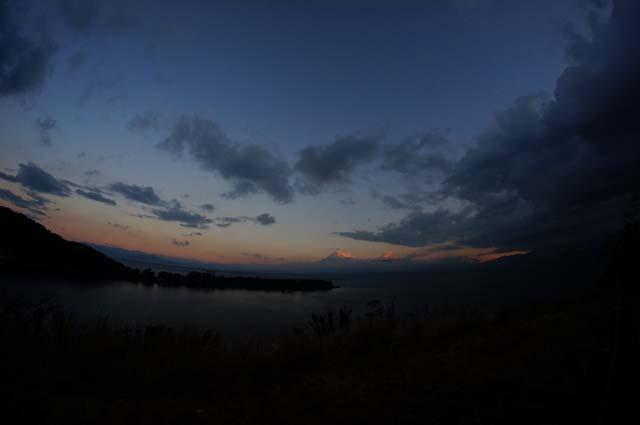 大瀬岬と富士