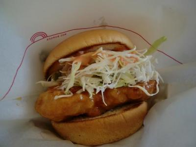 明太鶏バーガー(地域限定)