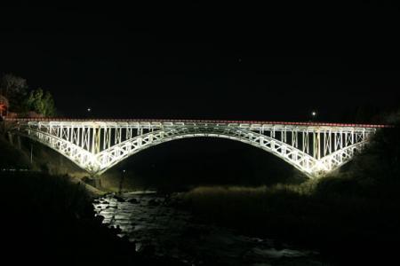 晩翠橋のライトアップ