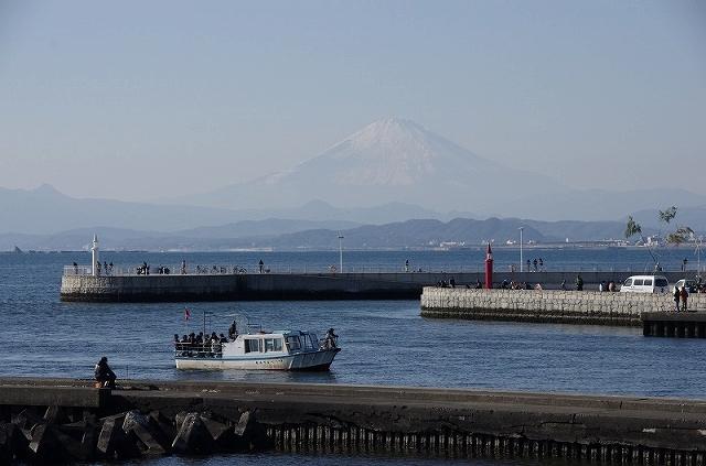 S富士山江ノ島から