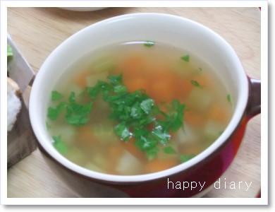 20120205セロリとニンジンスープ