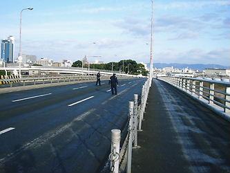 長柄橋 凍結