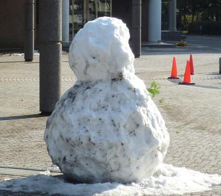 なんかむなしい雪だるま