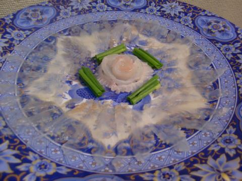 イシモチの薄作り
