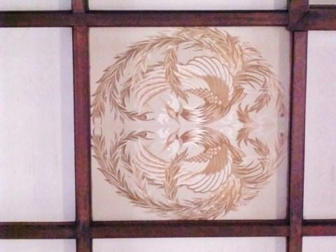 天井花柄1