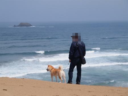 砂丘だ~海だ~