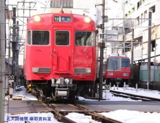 雪の名鉄5700系電車とその他 2