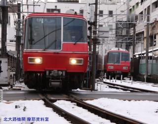 雪の名鉄5700系電車とその他 8