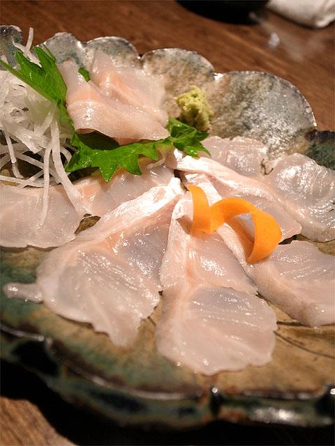 130706手料理うみ野-ホッケの刺身