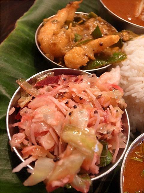 130914ダバインディア-海老のカレーと野菜のカレー
