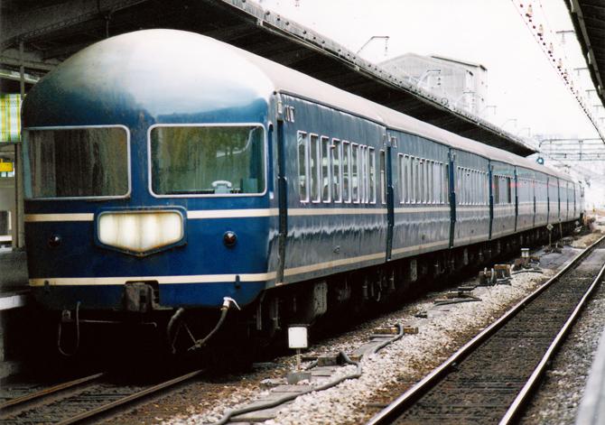 04・20系臨時寝台後尾(大阪)1996.09.26