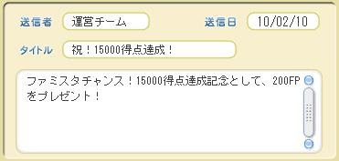 15000得点