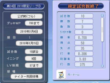 第24回限定1フル結果
