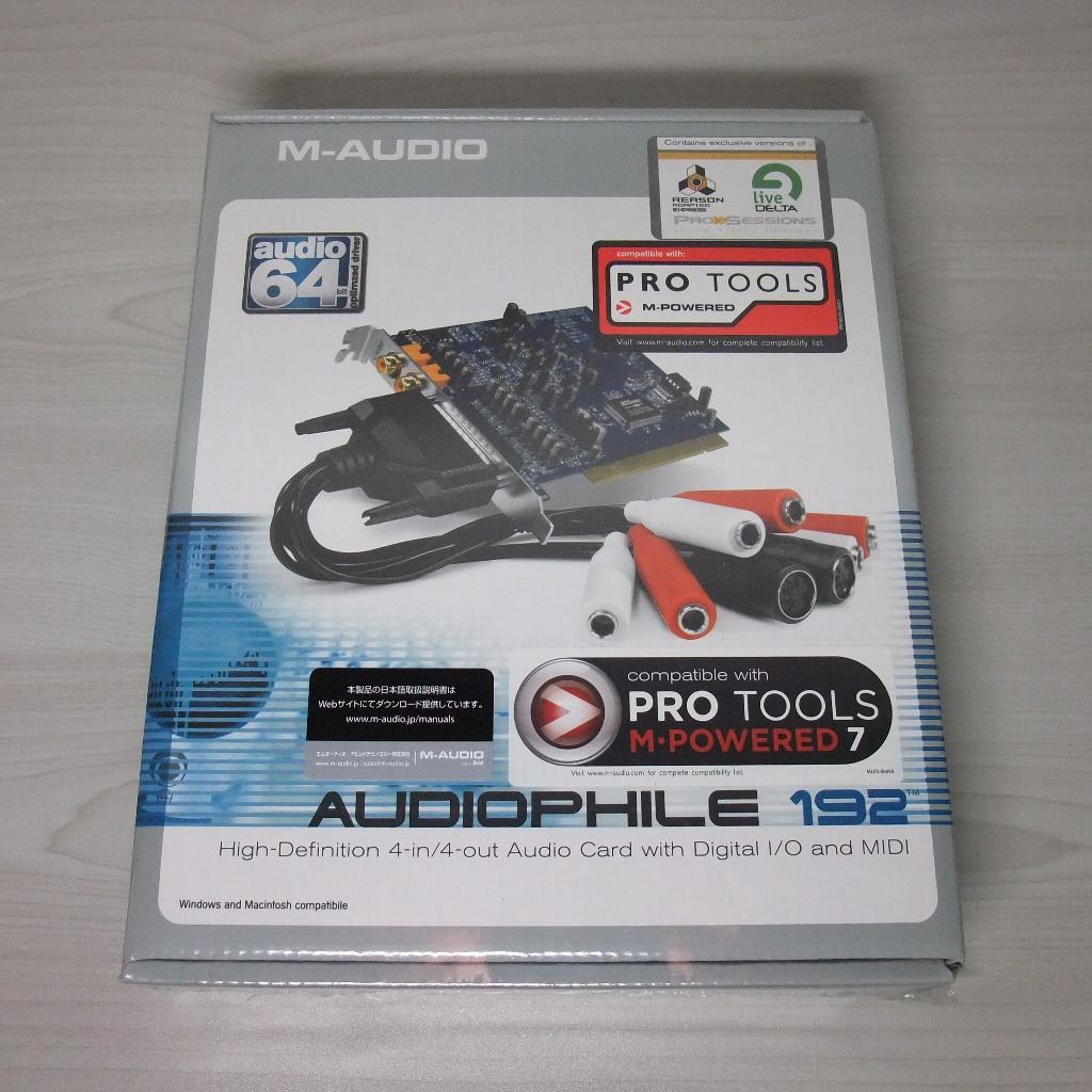 M-AUDIO Audiophile192 パッケージ