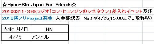 4/26分愛の弾丸