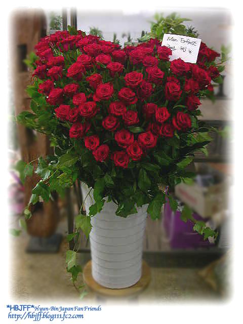 ビニ楽屋花ハート赤バラ0925