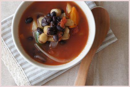 お豆とごぼうのミネストローネ2