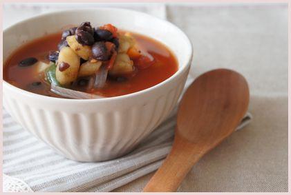 お豆とごぼうのミネストローネ