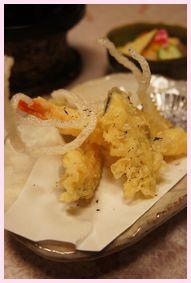 夕食 さくさくの天ぷら