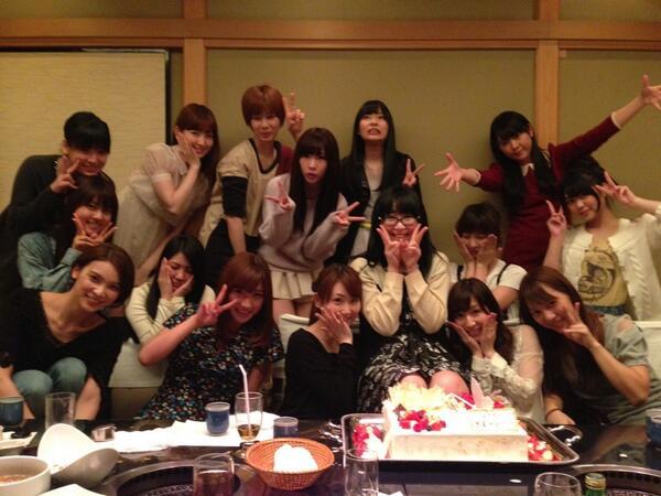 篠田麻里子 誕生会 なかやん 卒業祝い