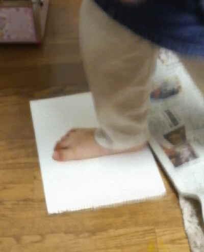 ゆっちゃん片足スタンプ