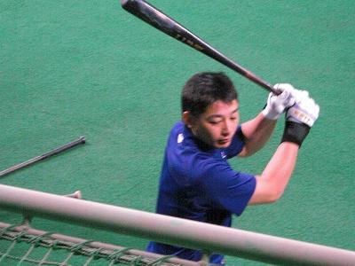 森野選手打撃練習