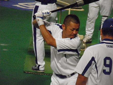 7月19日練習 谷繁選手