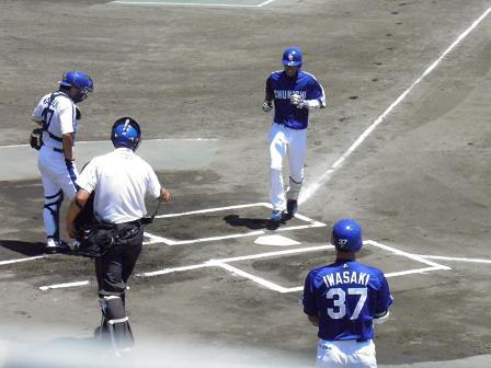 藤井選手ホームラン