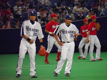新井選手と森野選手