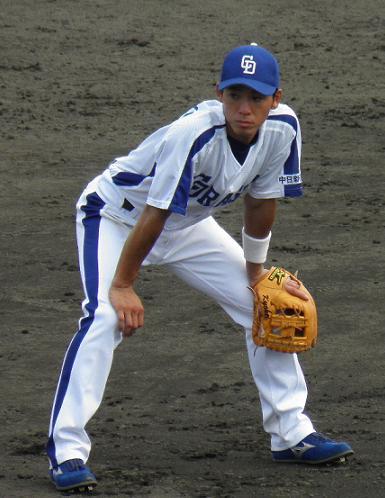 7月31日岩崎選手 帽子アリ