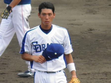 7月31日岩崎選手 帽子ナシ