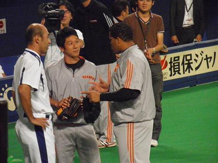 9月5日和田さんとディッキー投手