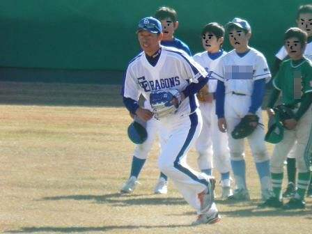 野球教室 山井投手2
