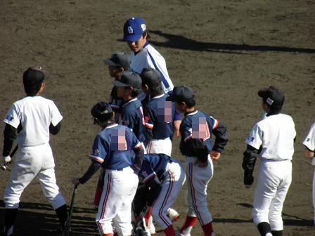 野球教室 新井選手5