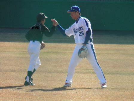 野球教室 山井投手3