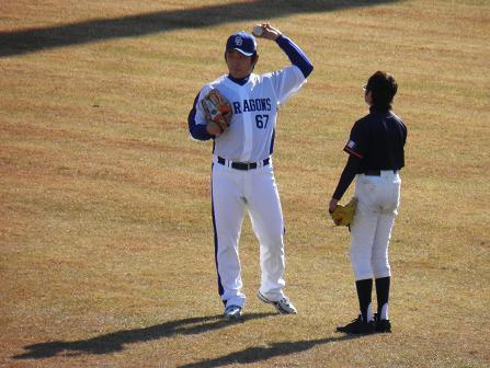野球教室 高橋投手3