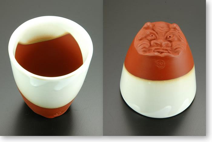 国三窯渡辺陶園 無名異焼鬼杯