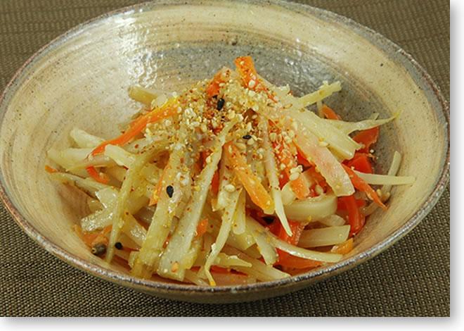 塩麹を使った根菜のきんぴら