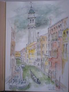 スケッチ、ヴェネツア、運河100202_1208~0001