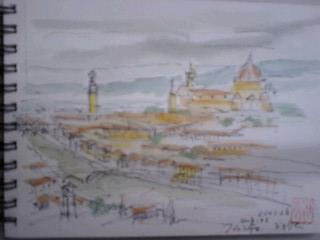 ミケランジェロ広場からスケッチ100202_1203~0002