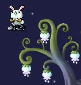 月花摘みのウサギ