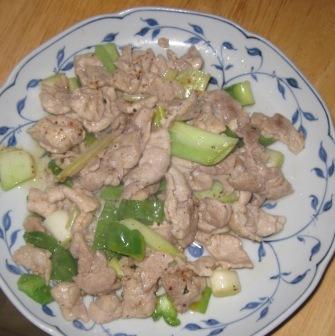 豚とねぎの炒め物