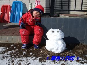 100114雪だるまと