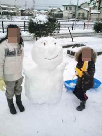 アンパンマンの雪だるま