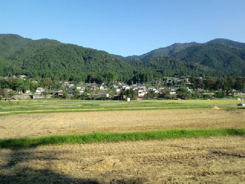 大原の田園風景