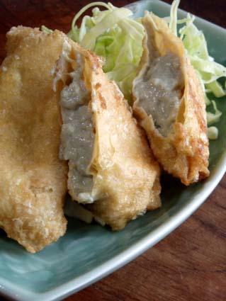 ピータン豆腐の湯葉揚げ01